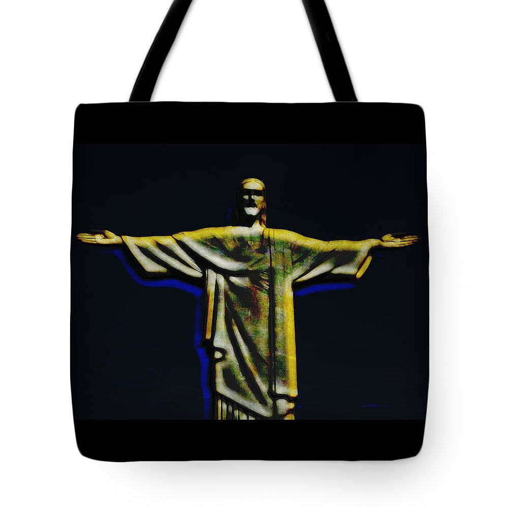 Christ Tote Bag featuring the photograph Christ The Redeemer - Rio by Ericamaxine Price