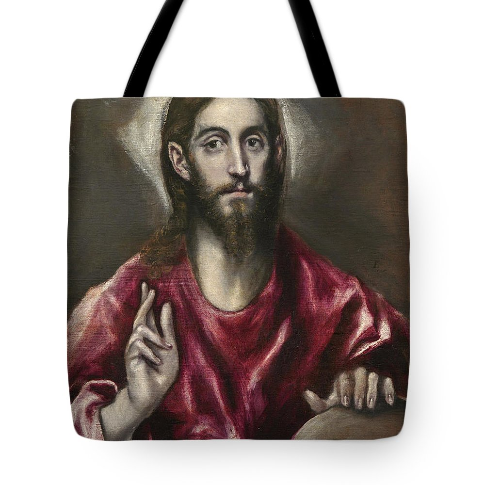 Christ Tote Bag featuring the painting Christ The Saviour by El Greco