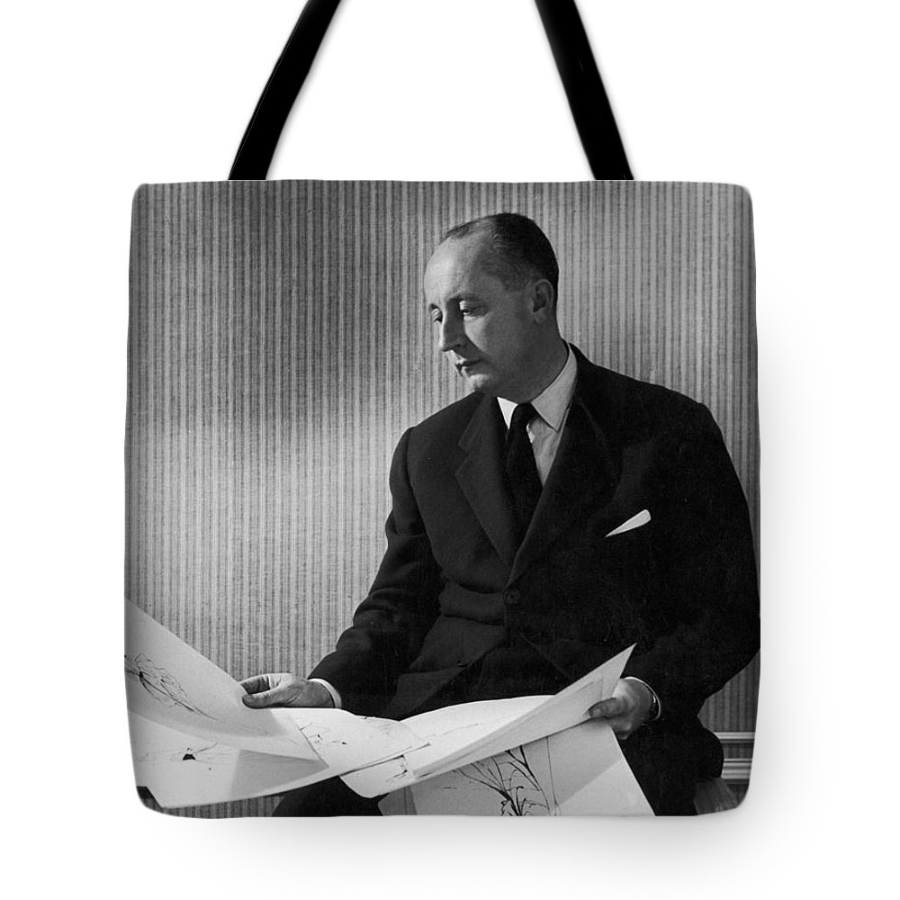 1950s Tote Bag featuring the photograph Christian Dior by Granger