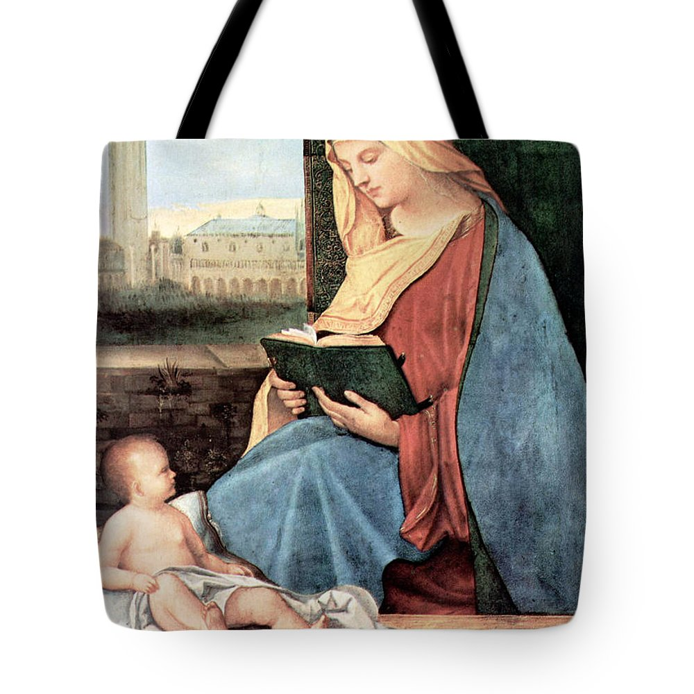 Mary Tote Bag featuring the photograph Christianity - Reading Time by Munir Alawi