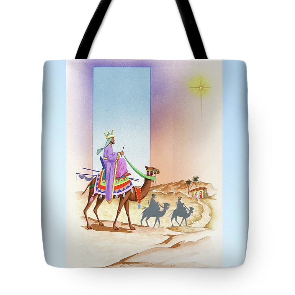 Christmas Tote Bag featuring the painting Christmas 3 by Laura Greco