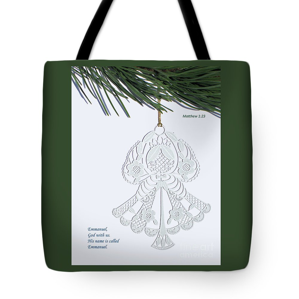 Christmas Tote Bag featuring the photograph Christmas Angel by Ann Horn