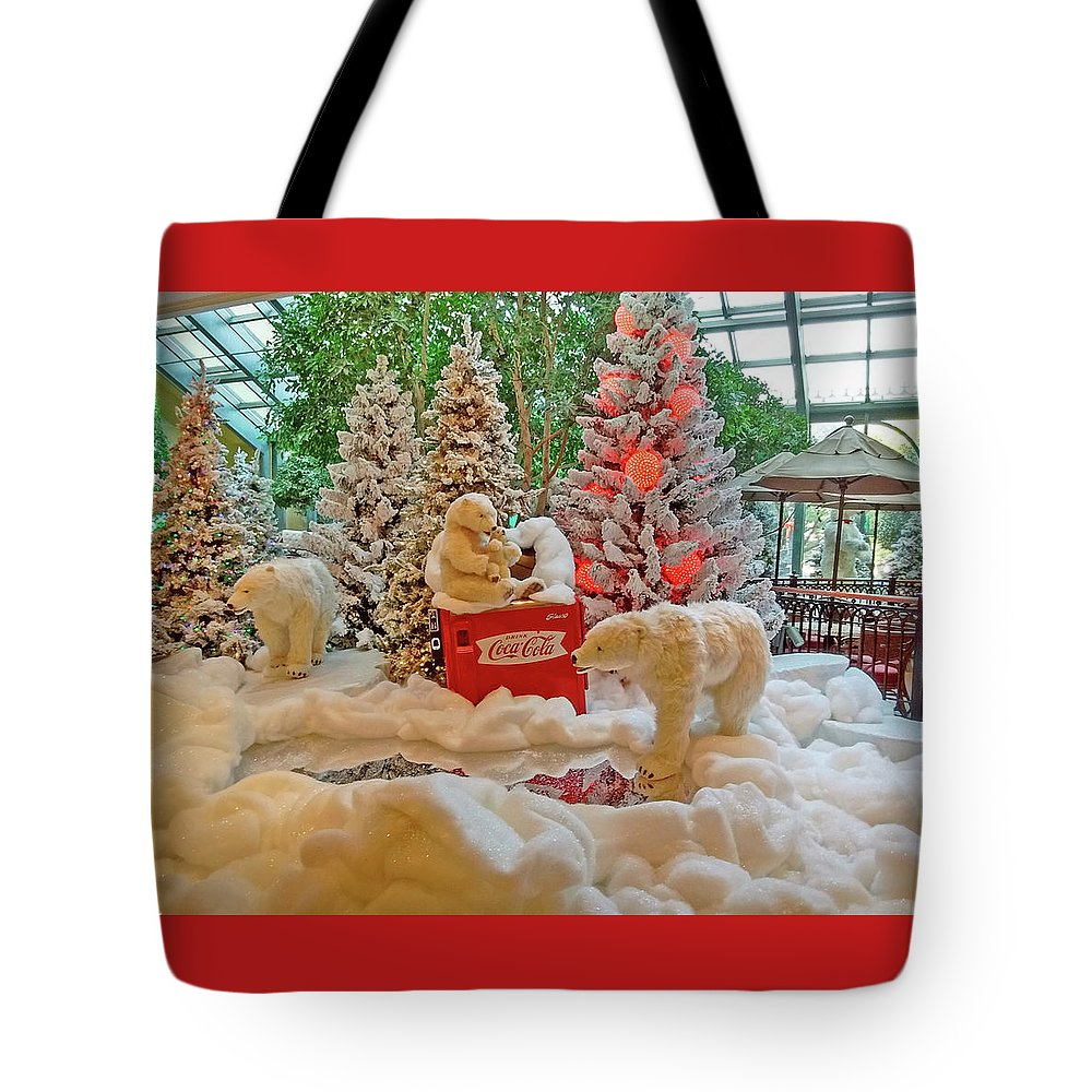 Photography Tote Bag featuring the photograph Christmas Bears by Marian Bell