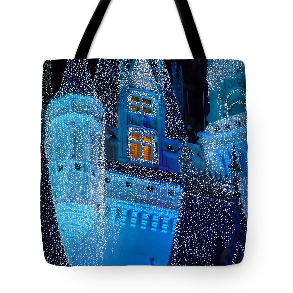 Cinderella Tote Bag featuring the photograph Christmas Castle by Nora Martinez