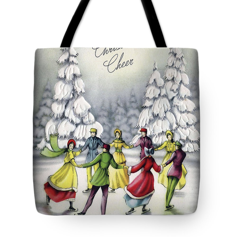 Sliding Tote Bag featuring the mixed media Christmas Cheer by Long Shot