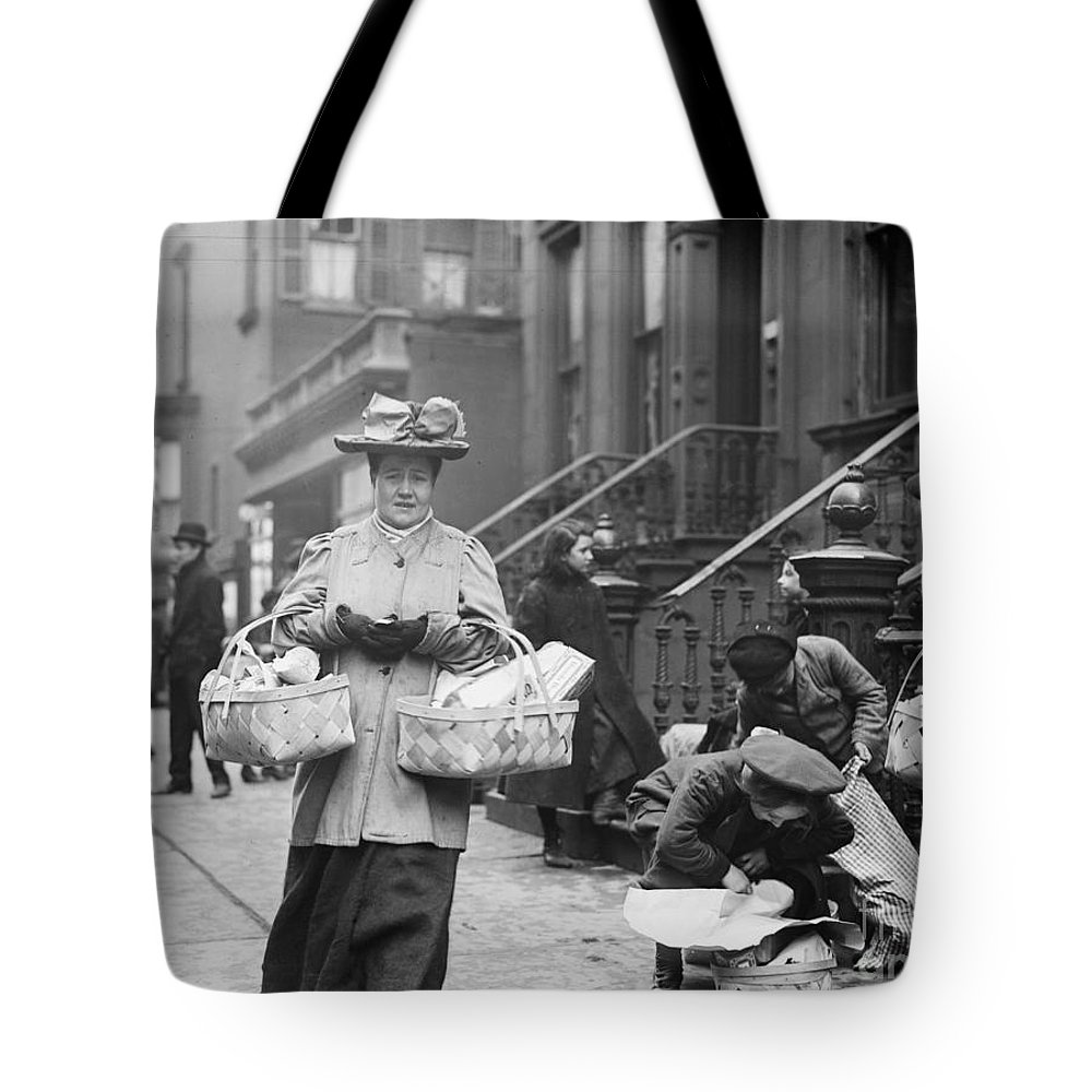 1908 Tote Bag featuring the photograph Christmas Dinner, 1908 by Granger