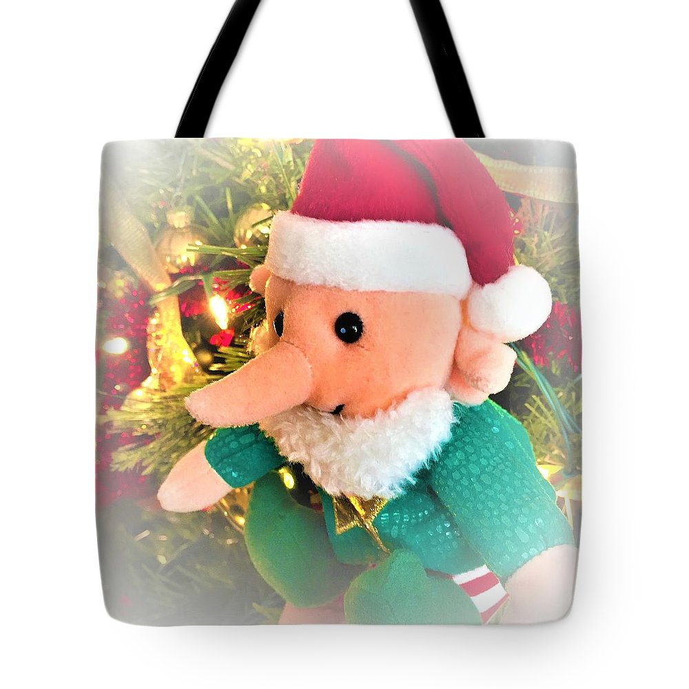 Christmas Imp Toy Tote Bag featuring the photograph Christmas Imp Toy by Cristina Stefan