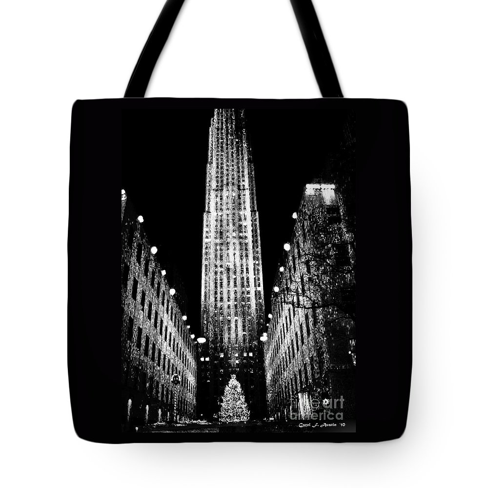 Fine Art Tote Bag featuring the photograph Christmas In New York City by Carol F Austin