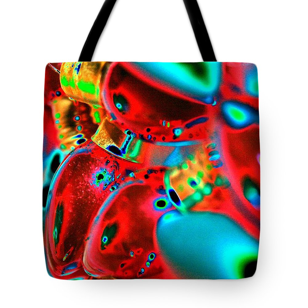 Christmas Tote Bag featuring the photograph Christmas Lights Festival by Tiffany Vest