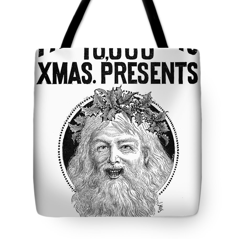 1890 Tote Bag featuring the photograph Christmas Present Ad, 1890 by Granger