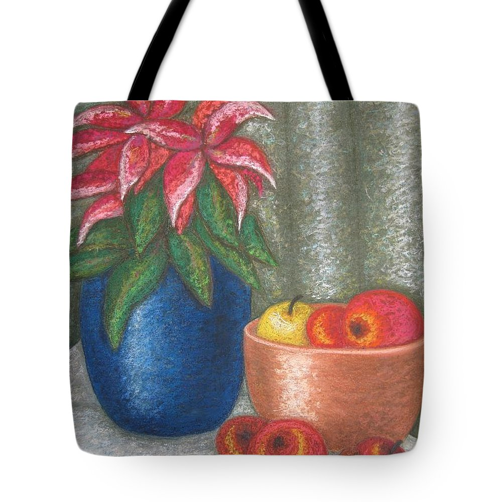 Christmas Rose Tote Bag featuring the pastel Christmas Rose by Stella Velka