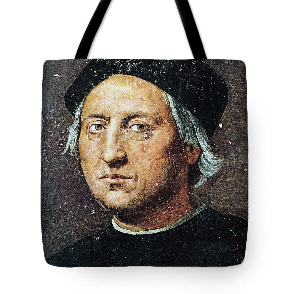 15th Century Tote Bag featuring the painting Christopher Columbus by Granger
