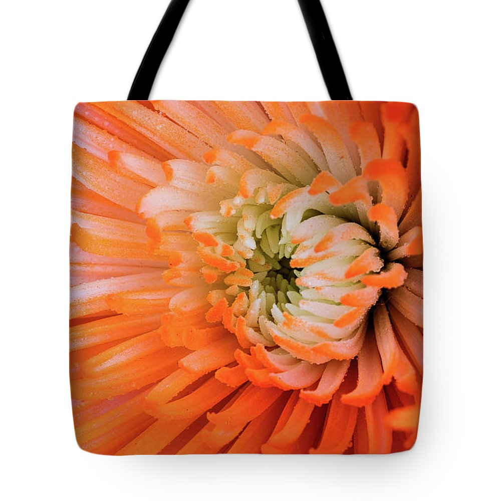 Flower Tote Bag featuring the photograph Chrysanthemum Serenity by William Dahl