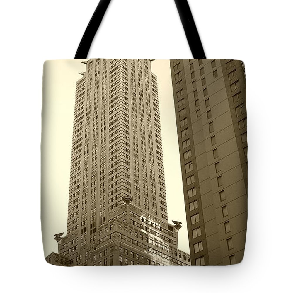 New York Tote Bag featuring the photograph Chrysler Building by Debbi Granruth