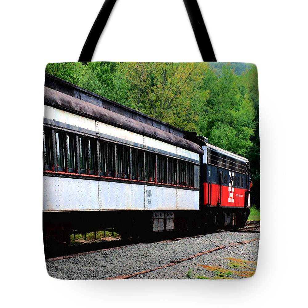 Train Tote Bag featuring the photograph Chugging Along by RC DeWinter