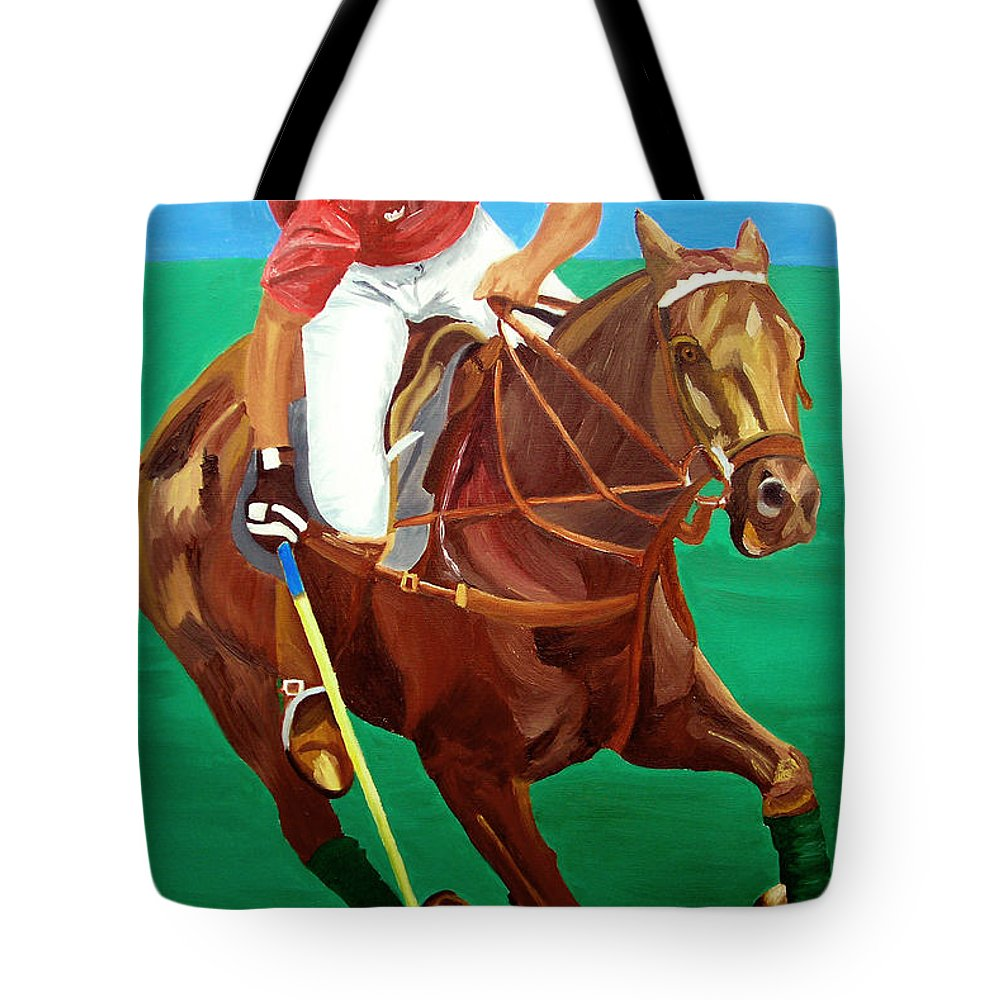 Polo Tote Bag featuring the painting Chukar by Michael Lee