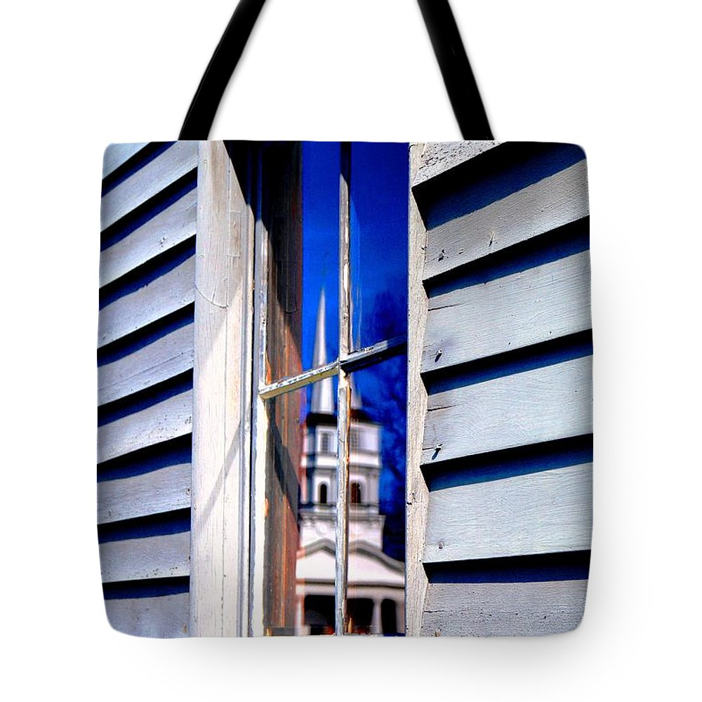 Tote Bag featuring the photograph Church And State by Daniel Thompson