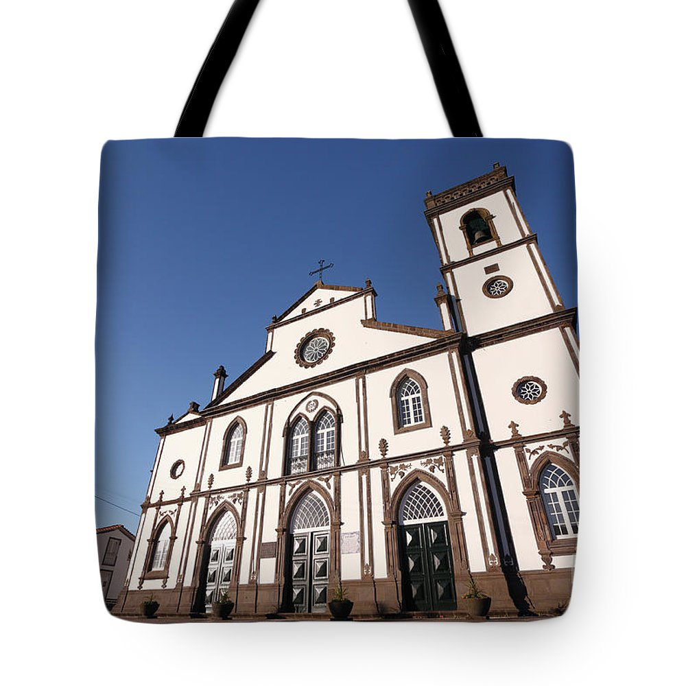 Santo Antonio Nordestinho Tote Bag featuring the photograph Church In Azores Islands by Gaspar Avila