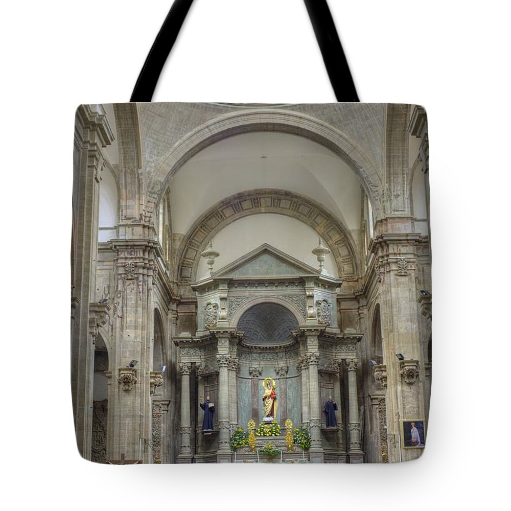 Decoration Tote Bag featuring the photograph Church In Guanajuato by Juli Scalzi