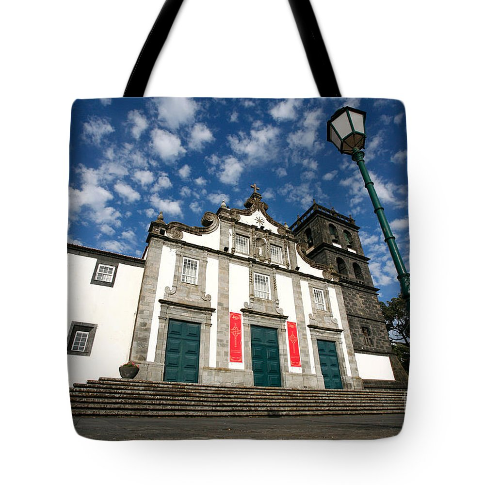 Catholic Tote Bag featuring the photograph Church In Ribeira Grande by Gaspar Avila