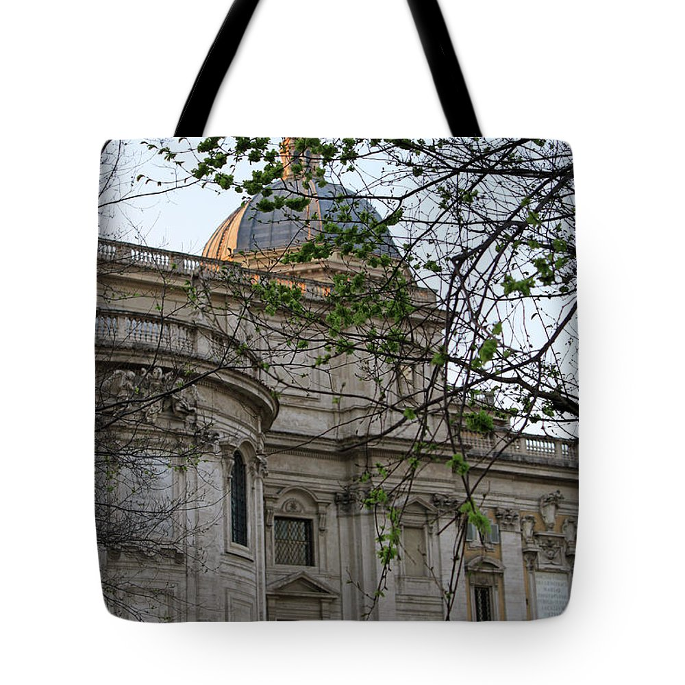 Rome Tote Bag featuring the photograph Church In Rome by Munir Alawi