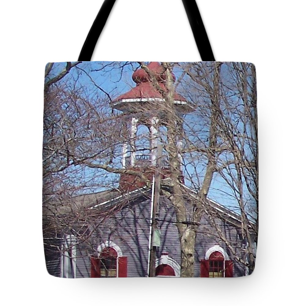 Church Tote Bag featuring the photograph Church In Woods by Pharris Art