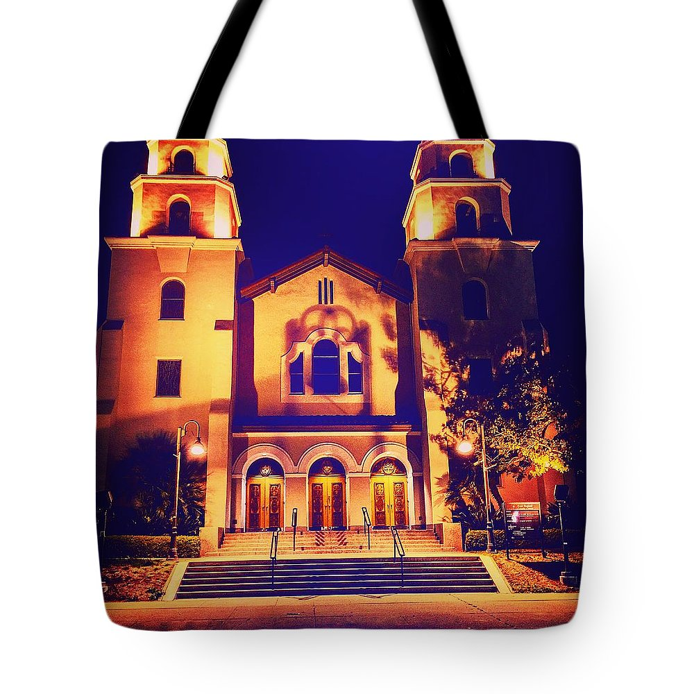 Tote Bag featuring the photograph Church Night by Daved Thom