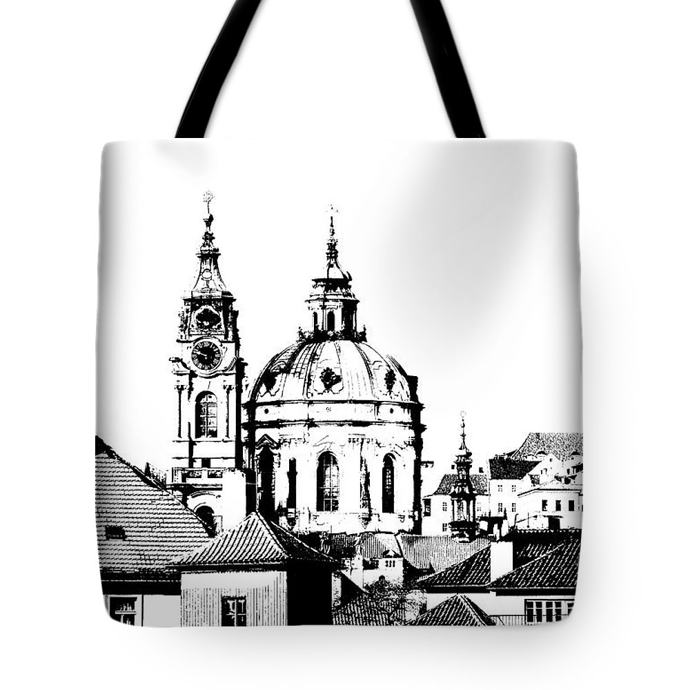 Cityspace Digital Art Tote Bags