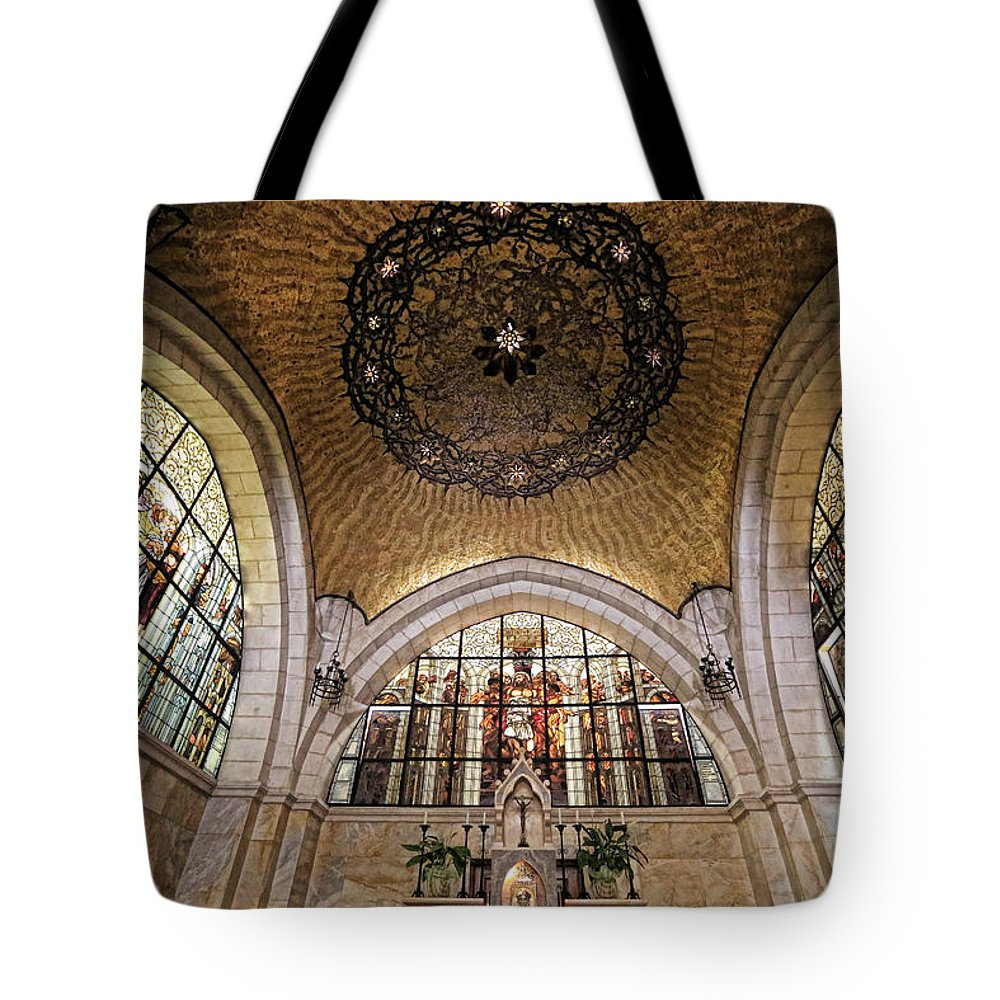 Jerusalem Tote Bag featuring the photograph Church Of The Flagellation by Stephen Stookey