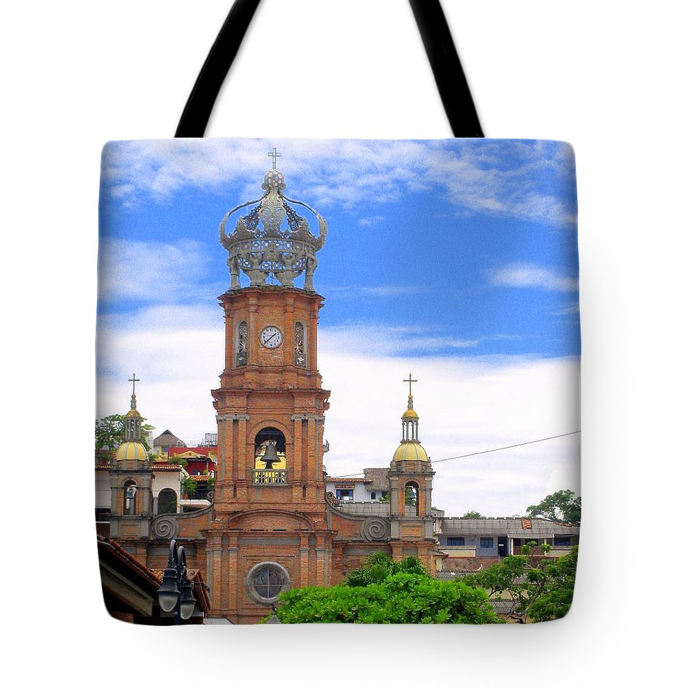 Church Tote Bag featuring the photograph Church Steeples In Puerto Vallarta by Glenn Aker