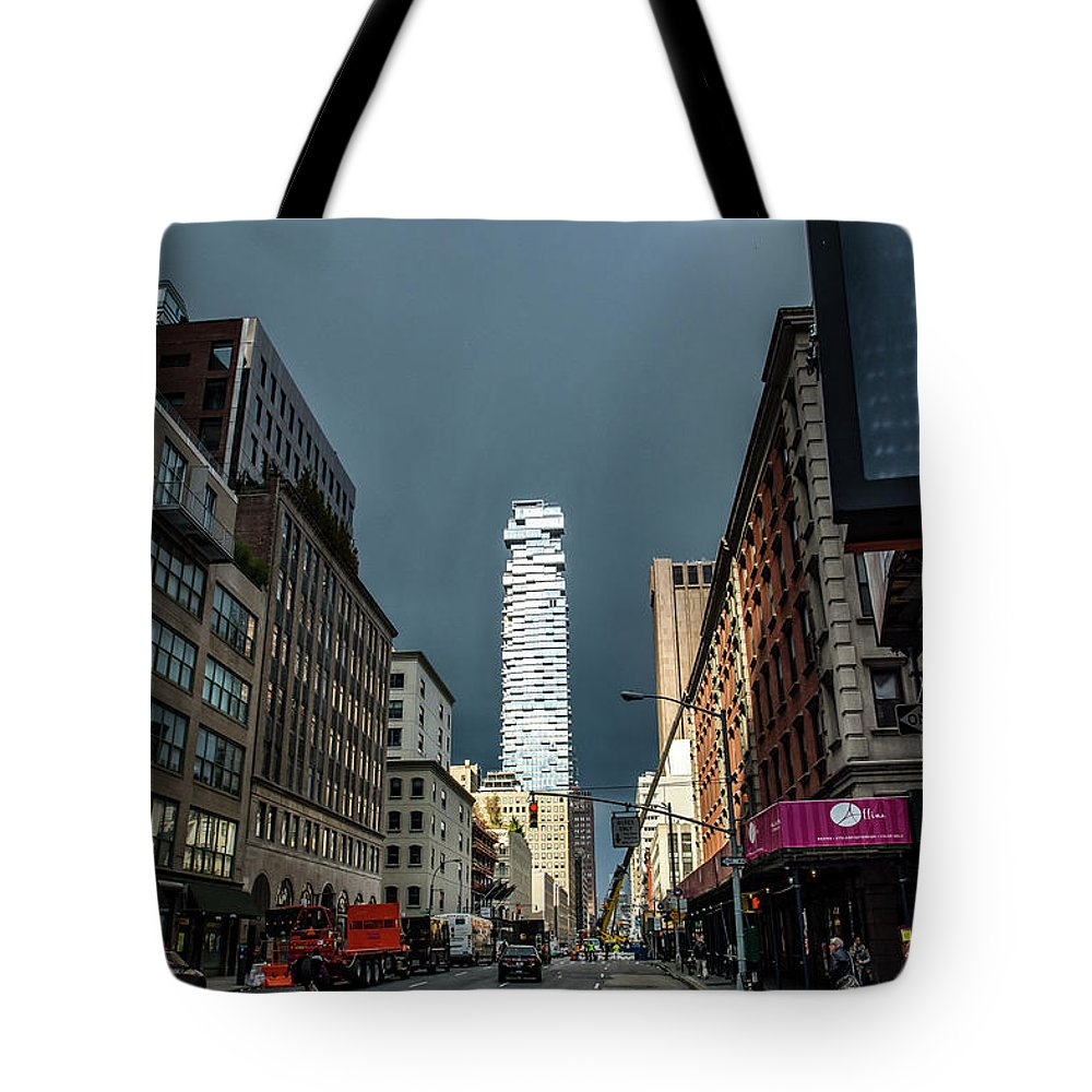Street Tote Bag featuring the photograph Church Street by Reynaldo Brigantty
