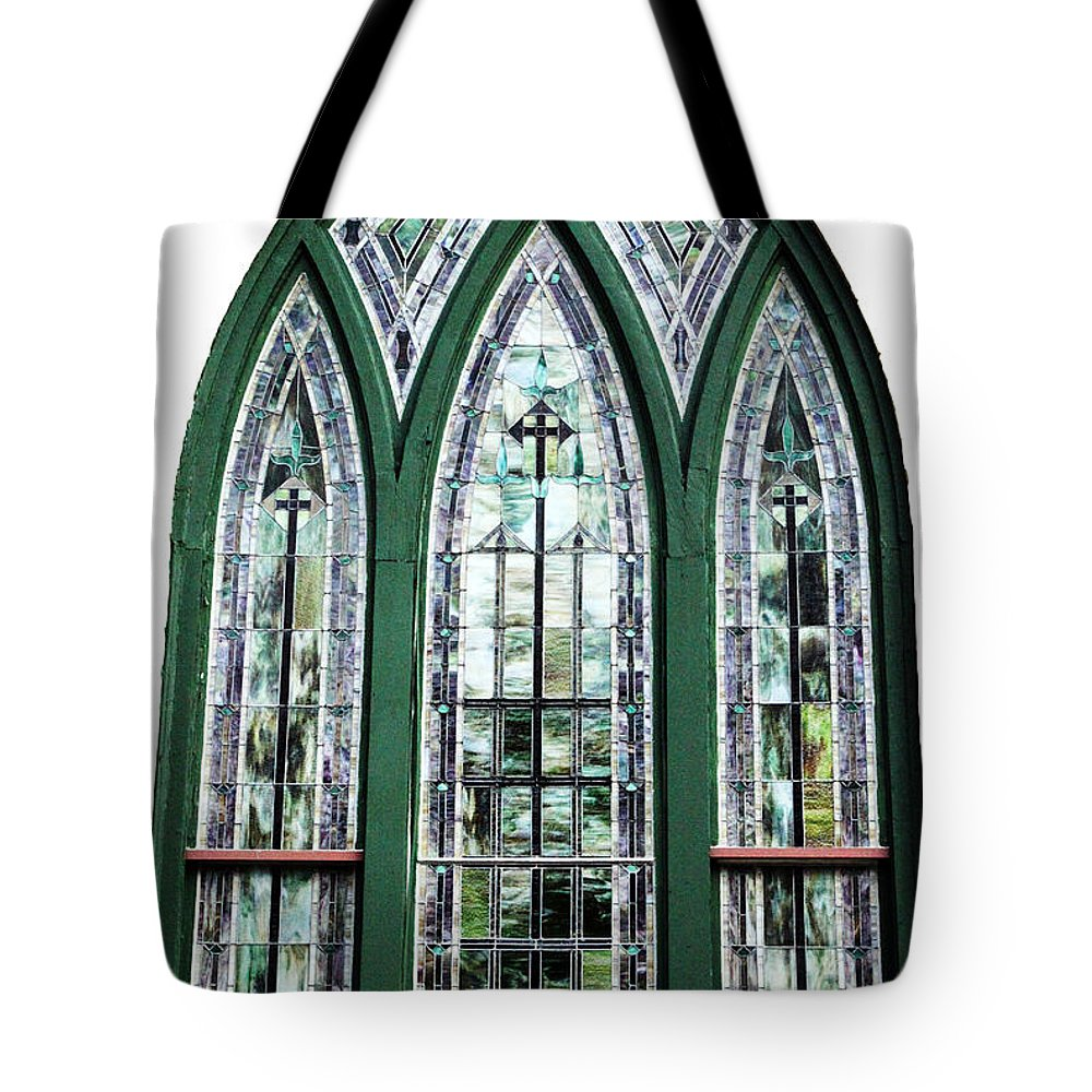Window Tote Bag featuring the photograph Church Window by Amanda Barcon