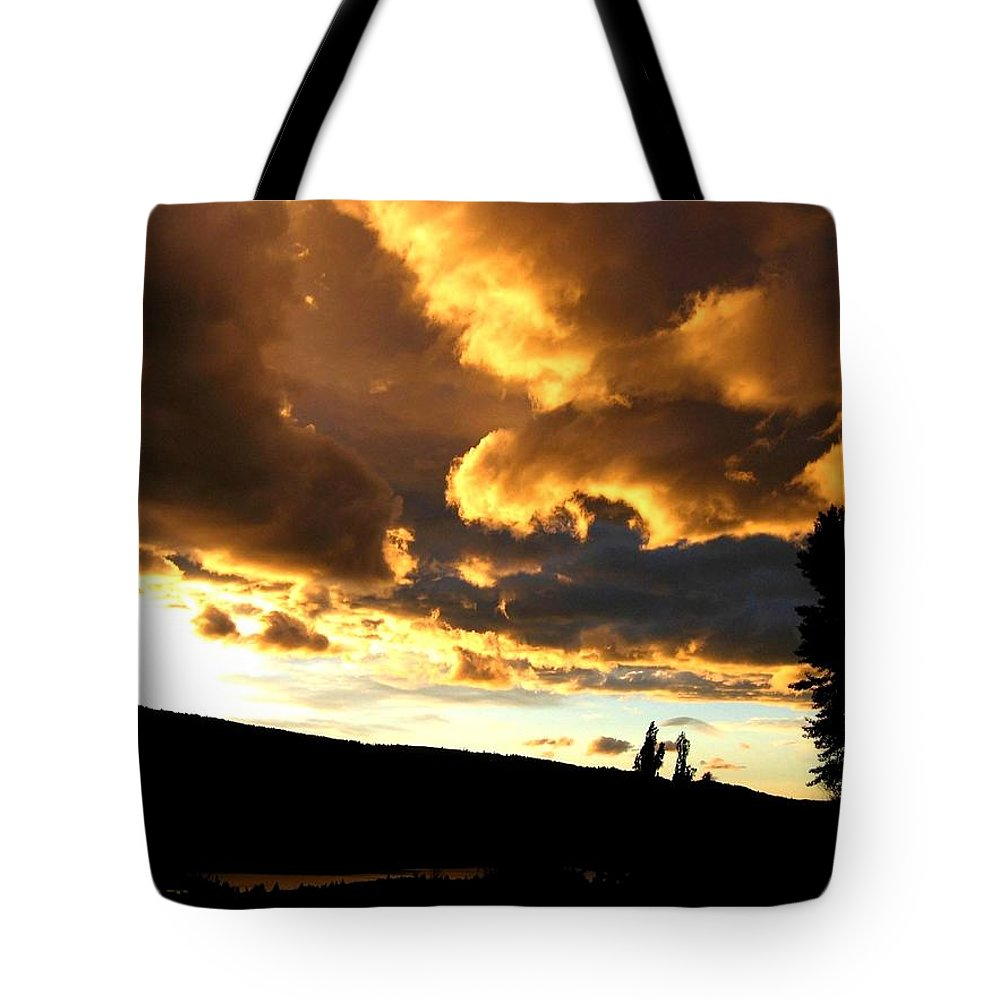 Sunset Tote Bag featuring the photograph Churning Clouds 1 by Will Borden