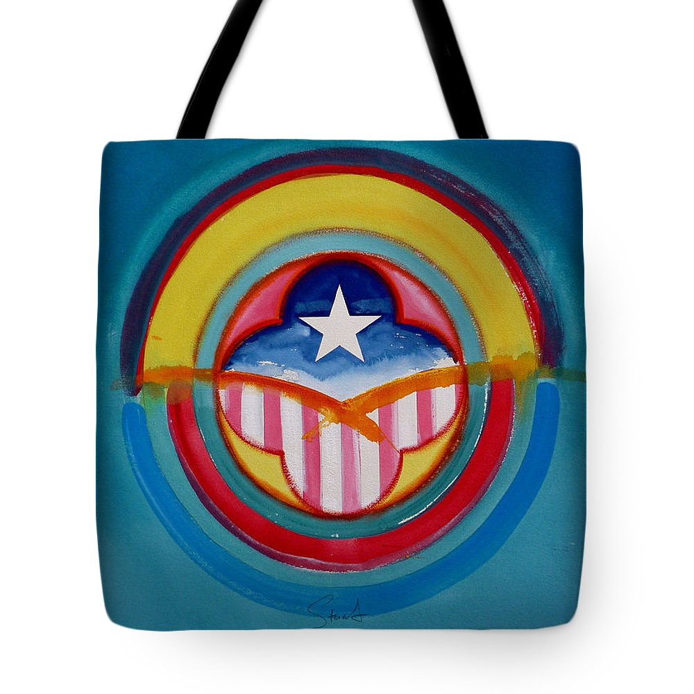 Button Tote Bag featuring the painting CIA by Charles Stuart