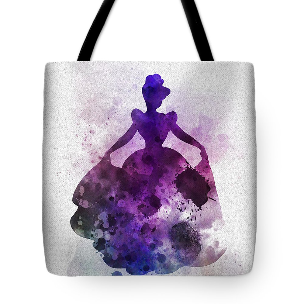 Cinderella Tote Bag featuring the mixed media Cinderella by My Inspiration