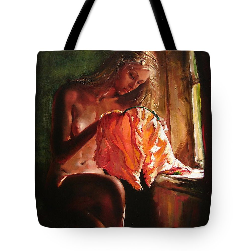 Ignatenko Tote Bag featuring the painting Cinderella by Sergey Ignatenko