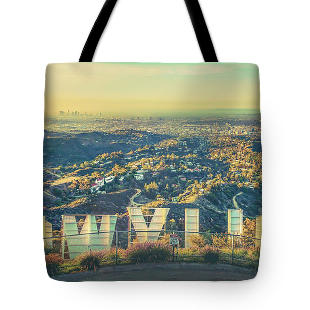 Los Angeles Tote Bag featuring the photograph Cinematic by Az Jackson