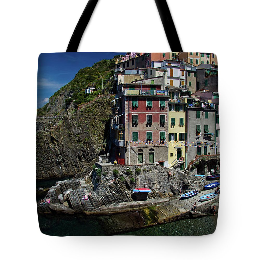 Harbor Tote Bag featuring the photograph Cinque Terre Northern Italy by Roger Mullenhour