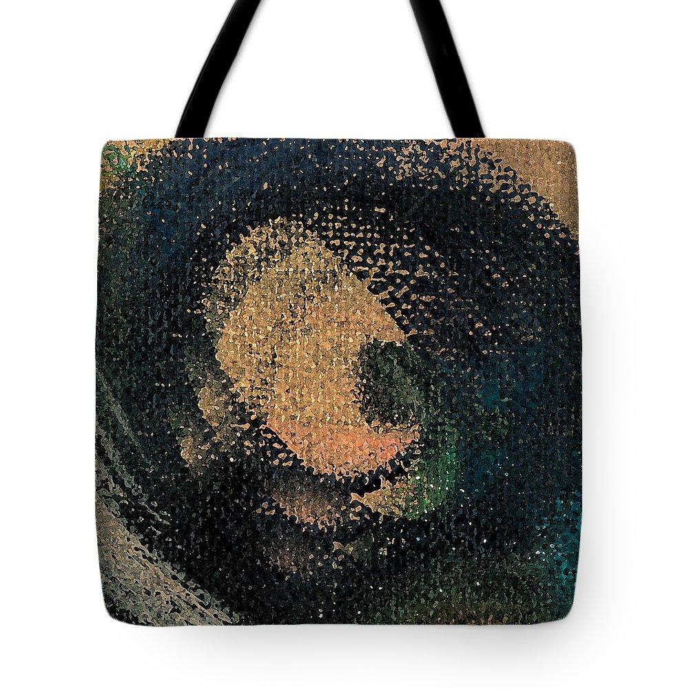 Circ Tote Bag featuring the mixed media CircGurl by Jorge Delara