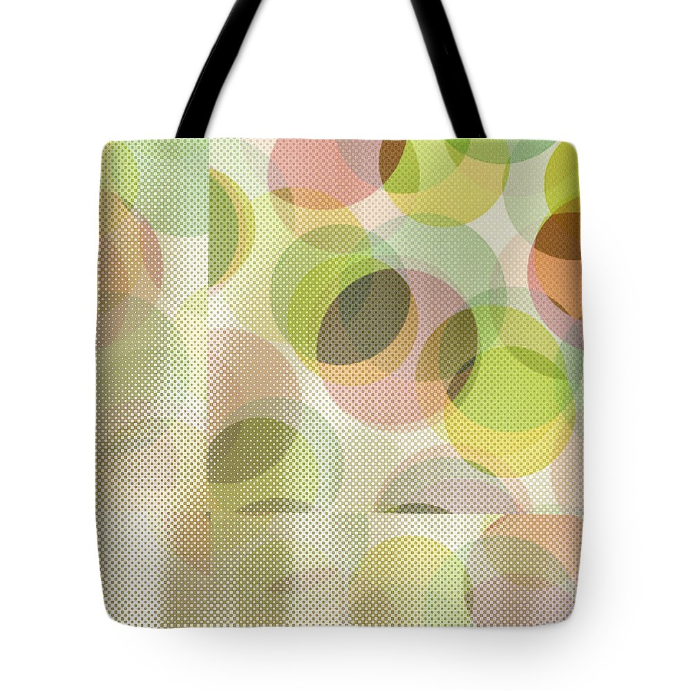 Abstract Tote Bag featuring the digital art Circle Pattern Overlay by Ruth Palmer