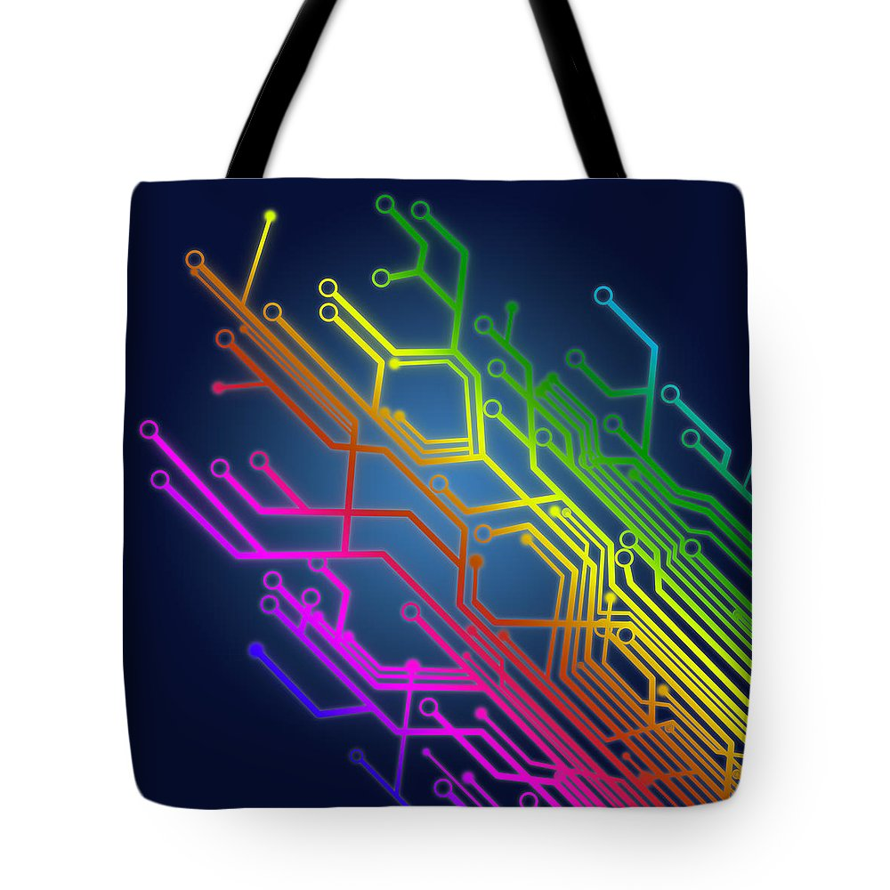 Abstract Tote Bag featuring the photograph Circuit Board by Setsiri Silapasuwanchai