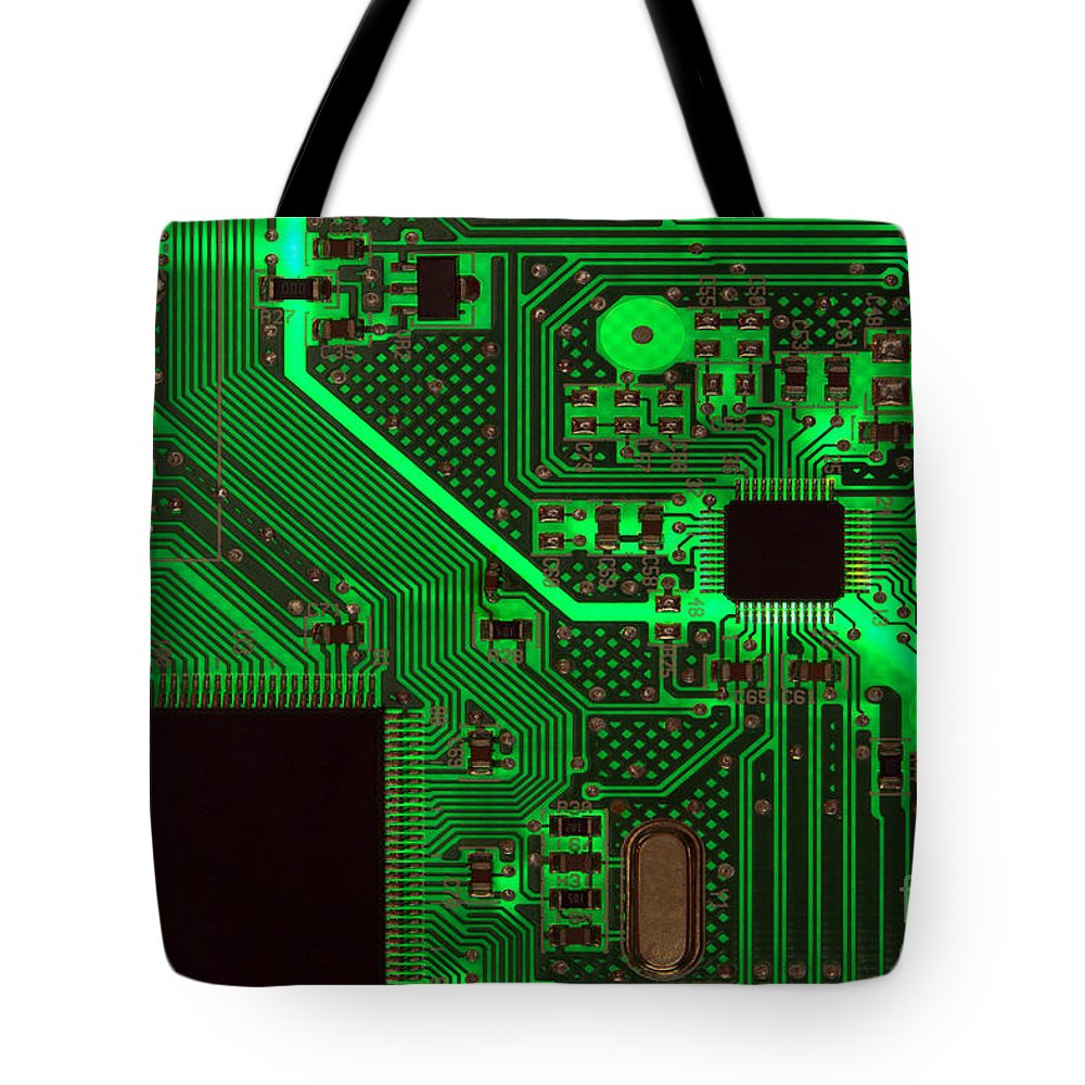 Circuit Tote Bag featuring the photograph Circuitry by Olivier Le Queinec