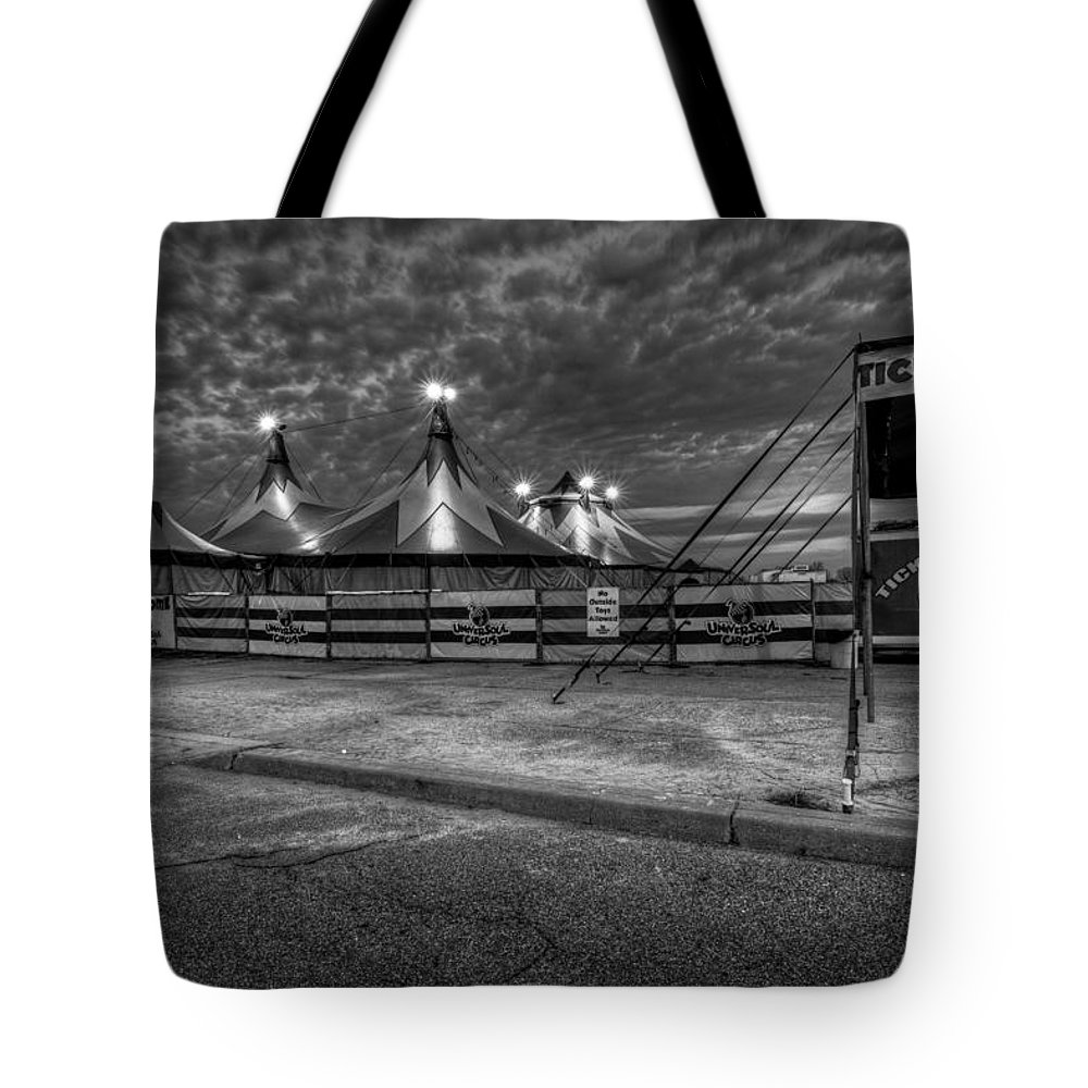 Landscape Tote Bag featuring the photograph Circus by Mike Deutsch