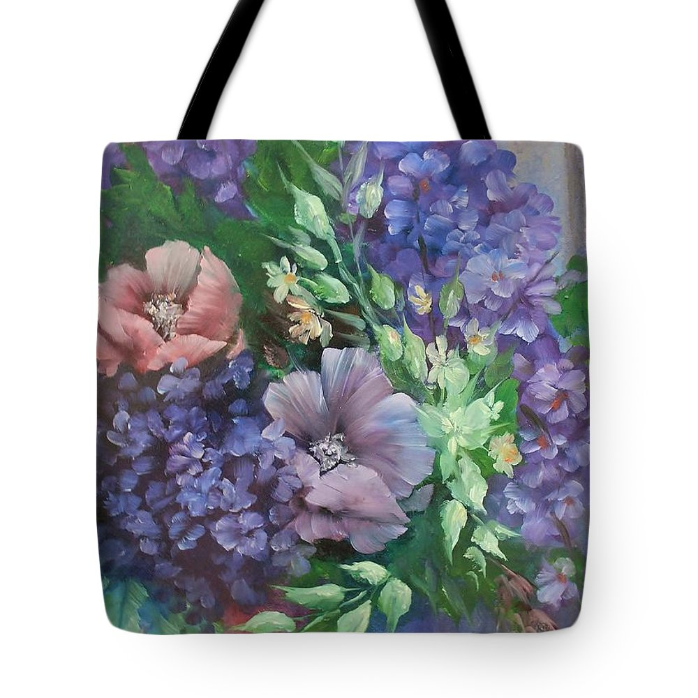 Frederick Skidmore Tote Bag featuring the painting Color Explosion  #86 by Frederick Skidmore
