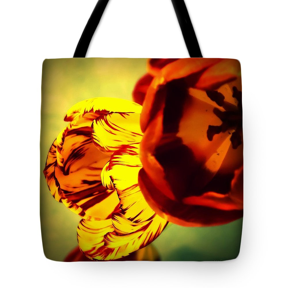 Tulip Tote Bag featuring the photograph Circus Of Color by Melissa Bittinger