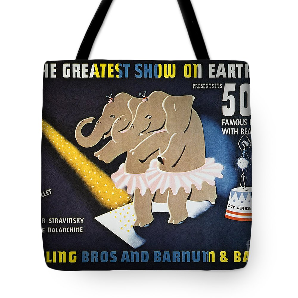 1942 Tote Bag featuring the photograph Circus Poster, 1942 by Granger