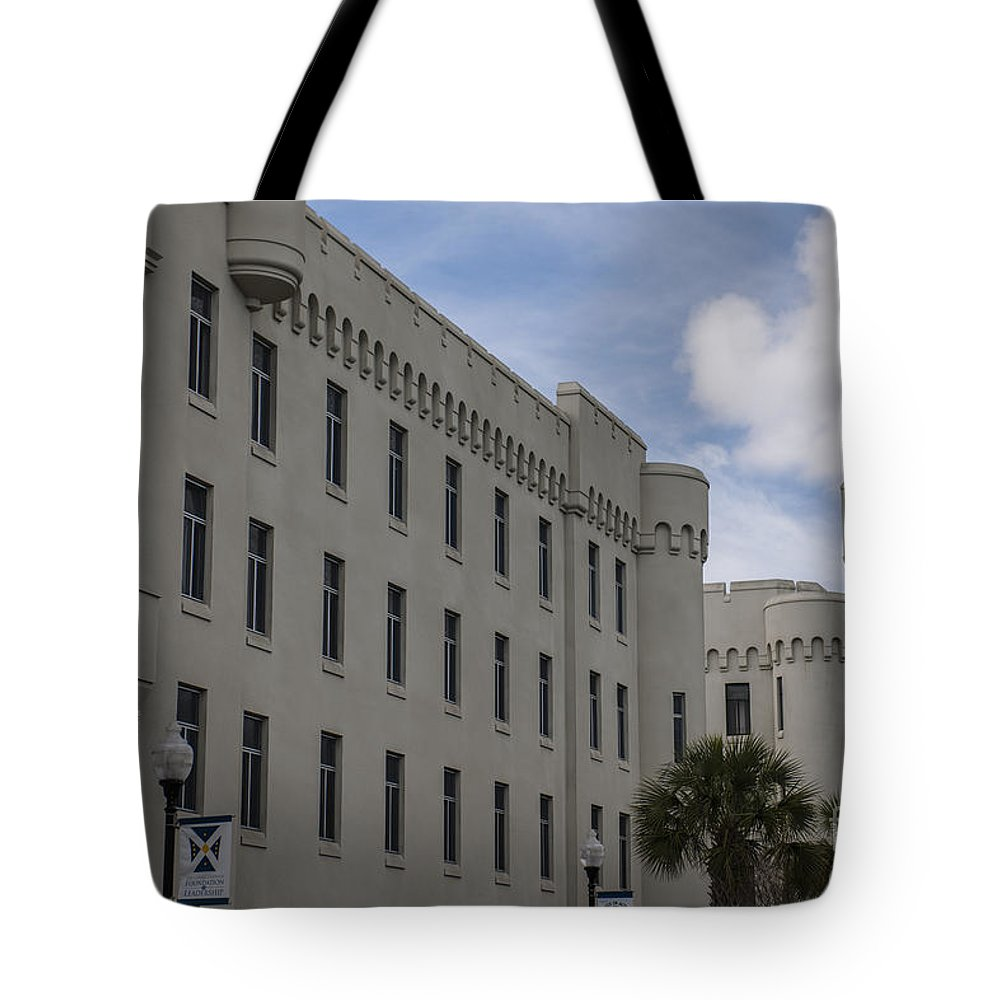 Citadel Tote Bag featuring the photograph Citadel Campus by Dale Powell