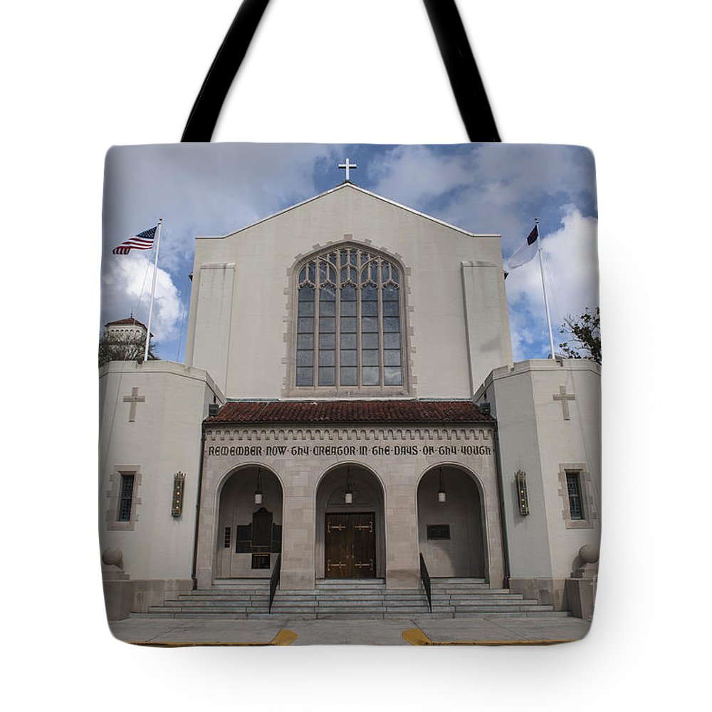 Citadel Tote Bag featuring the photograph Citadel Church by Dale Powell