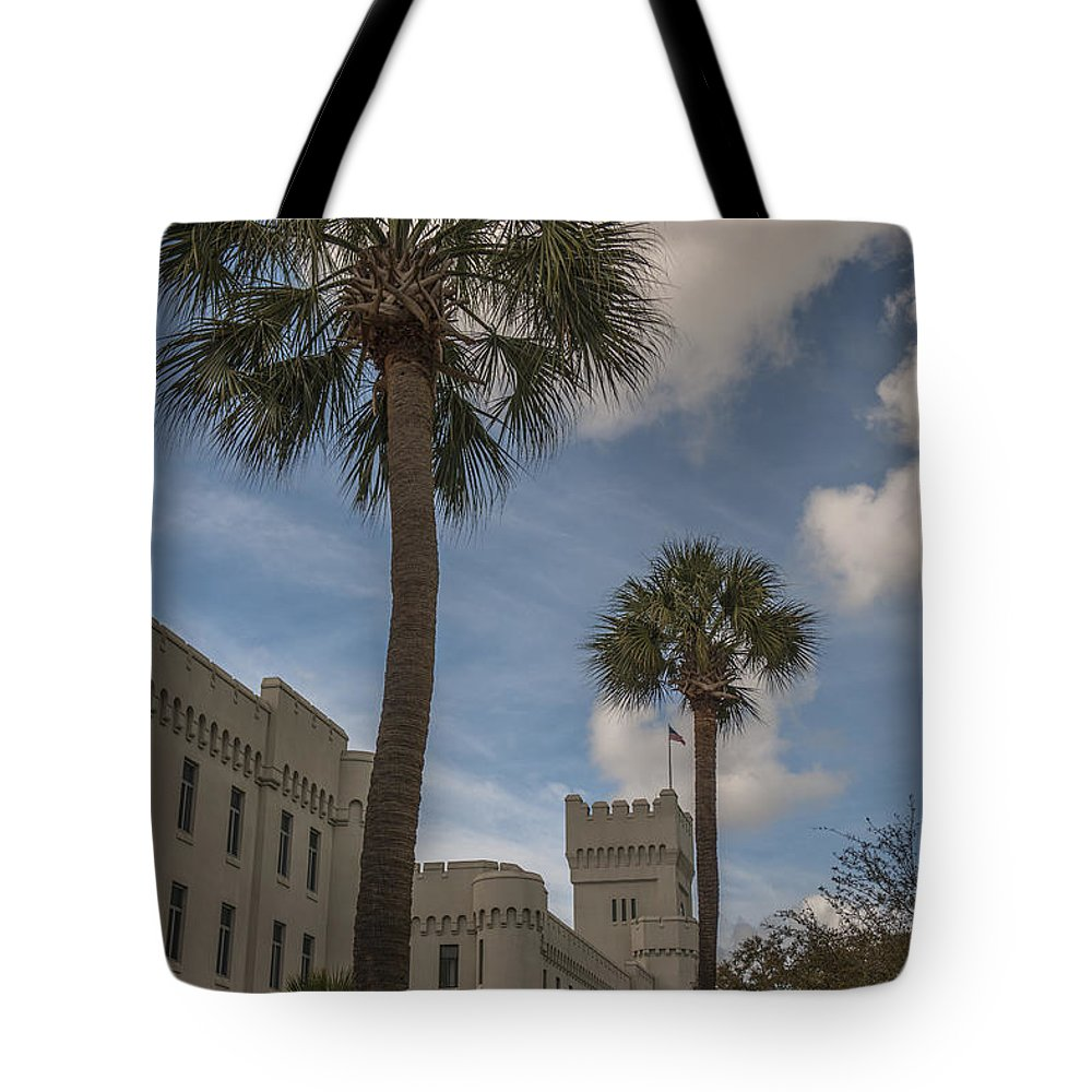 Citadel Tote Bag featuring the photograph Citadel Grounds by Dale Powell