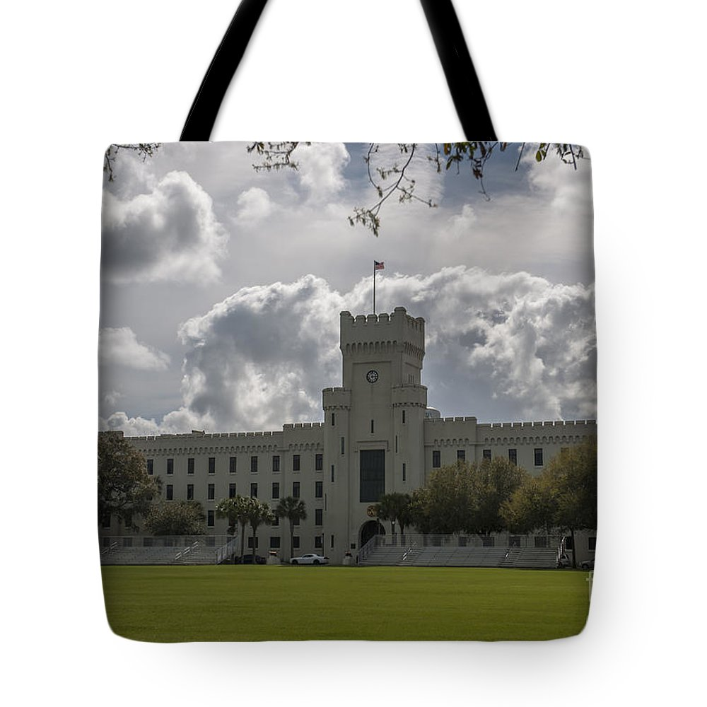 Citadel Tote Bag featuring the photograph Citadel Military College by Dale Powell